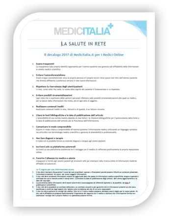 Decalogo 2017 dei Medici Online
