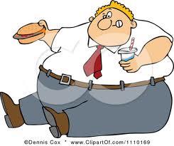 Obeso con panino