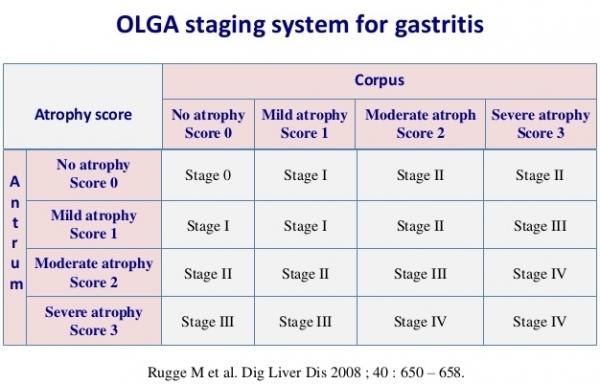 Stadiazione delle gastriti