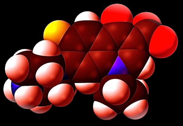 giovanniberetta_Ciprofloxacin-zwitterion-from-xtal-3D-vdW