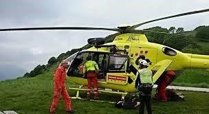 Trasporto paziente traumatizzato in elicottero