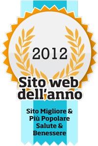 Coccarda premio Sito dell'anno 2012